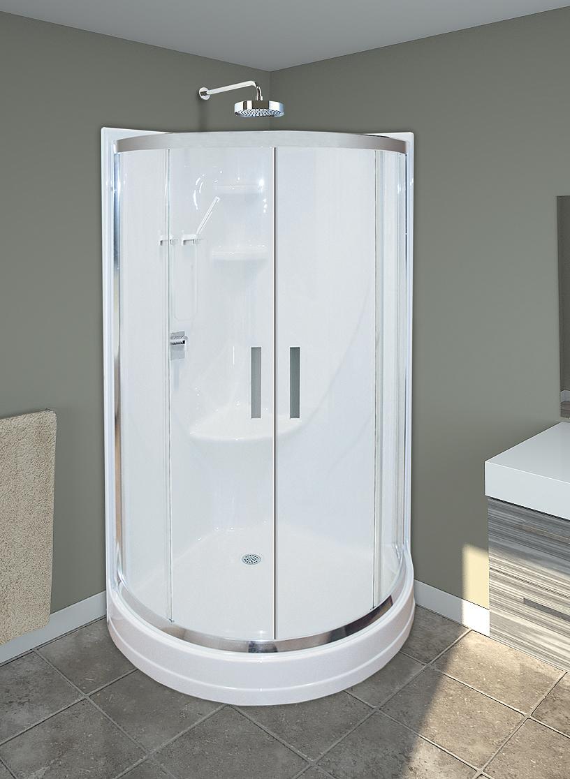 Douches for Bain en coin avec douche